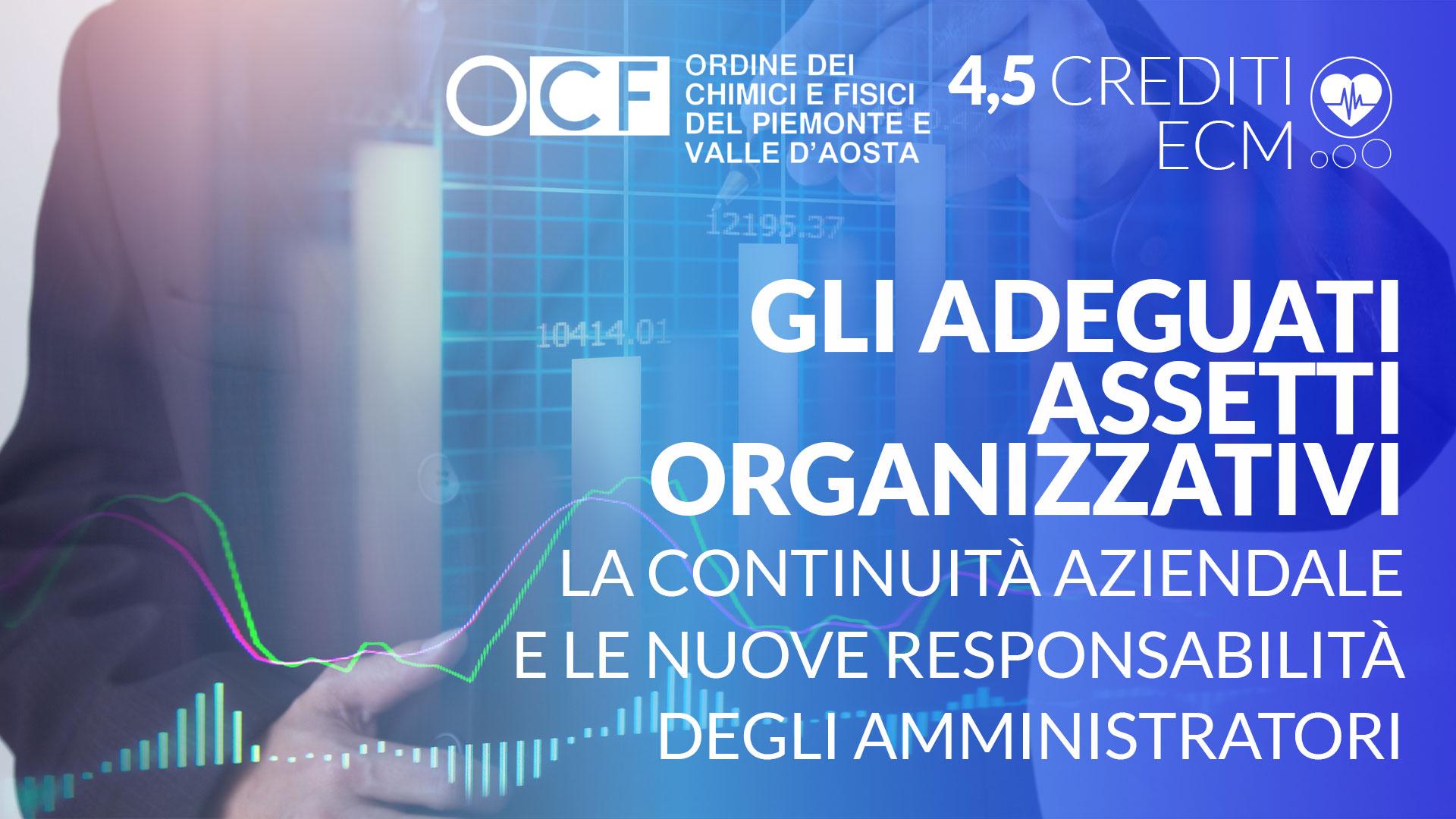 Gli adeguati assetti organizzativi, la continuità aziendale e le nuove responsabilità degli amministratori